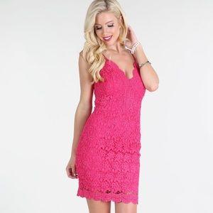 Nikibiki Fuchsia Back Lace-Up Dress